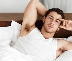 Nick Jonas Lies In Virginal White Bed In A Wife Beater + Joe Jets Of On Holiday With His New BFF - http://oceanup.com/2014/10/01/nick-jonas-lies-in-virginal-white-bed-in-a-wife-beater-joe-jets-of-on-holiday-with-his-new-bff/