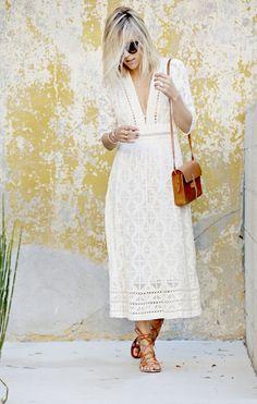 white geometric lace