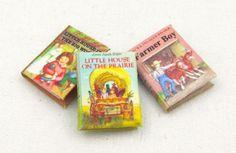 LITTLE HOUSE ON THE PRAIRIE Set (3) Miniature Books Dollhouse1:12 Scale Readable #LittleTHINGSofInterest