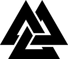 "Valknut - (VAK-NOT) the symbol of Odin, aka ""Knot of the slain"""
