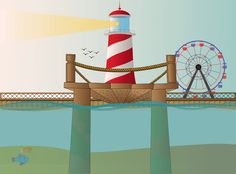Light House Vector on Behance
