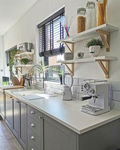 Scandinavian Style Home, Scandinavian Interior Design, Kitchen Cabinets, Kitchen Appliances, Victorian Terrace, Luxe Life, New Kitchen, Kitchen Ideas, Apartment Design