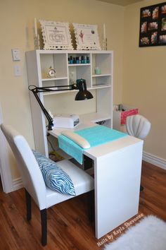 Home nail salon set up ideas | nail technician room | nail room