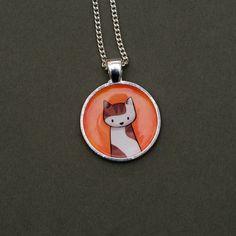 Custom Cat Necklace  Pendant by Doodlecats on Etsy