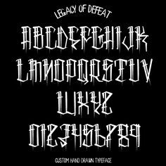 Skid Row — Legacy of Defeat Graffiti Alphabet Styles, Graffiti Lettering Alphabet, Chicano Lettering, Tattoo Lettering Design, Hand Lettering Fonts, Tattoo Fonts Alphabet, Tattoo Script, Alfabeto Tattoo, Letras Tattoo