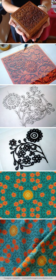 Creative process for prints from photos | Flora pattern.