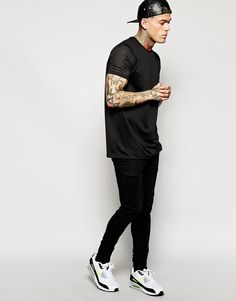 Stephen James ASOS T-Shirt With Mesh Sleeves And Back Panel ❤️