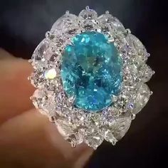 Marc202. Via BOLA | 3 Jewelry (@bola3jewelry) on Instagram: PERFECT!!! Stunning Paraiba and Diamond Ring via @marc202 #hautejoaillerie #highjewelry