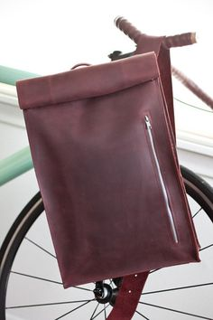 Leather Biking Messenger Bag by jrawldesign on Etsy, $265.00
