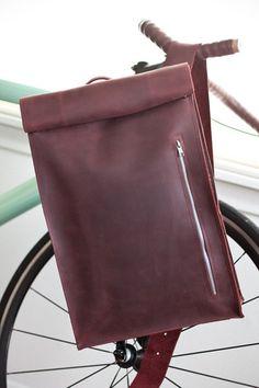 Awesome Leather Biking Backpack by jrawldesign on Etsy, $265.00