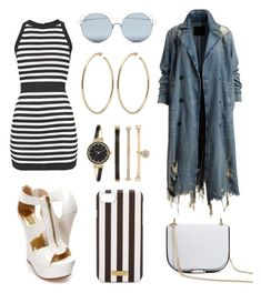 """Stripes"" by fashionstyleideas4now on Polyvore featuring Balmain, Forever 21, For Art's Sake, Henri Bendel and Anne Klein"