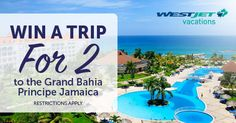 Enter for a chance to win a trip for *Single Entry + sharing bonuses* Ends Vacation Places, Dream Vacations, Vacation Spots, Grand Bahia Principe Jamaica, Canadian Contests, Winter Love, Win A Trip, Plein Air, Travel Destinations