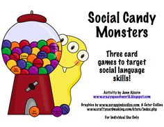 Crazy Speech World: Social Candy Monsters-A Social Language Skills Pack-3 games! Pinned by SOS Inc. Resources @sostherapy.