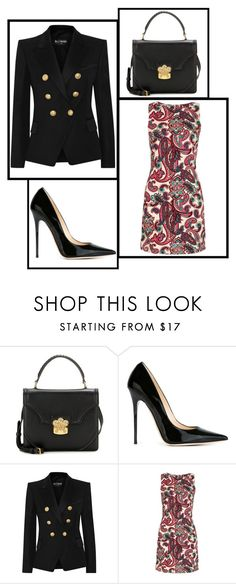 """Outfit # 3051"" by miriam83 ❤ liked on Polyvore featuring Alexander McQueen, Jimmy Choo and Balmain"