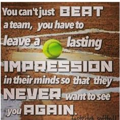 Softball Impression: me and my team did this, and were the league champions!