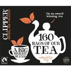 I like Clipper tea. Preferably with a slice of Victoria Sponge. Or toast and marmite.