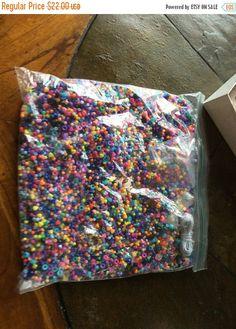 Summer Sale 2.3 pounds beads string in bag vintage by EMTWTT