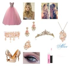 """Alice - Princess"" by lebamendessantos ❤ liked on Polyvore featuring Badgley Mischka, claire's, LE VIAN, Henri Bendel and MAC Cosmetics"