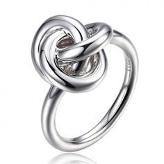 "Bremer Jewelry ELLE  ""Trefoil"" Sterling Silver Fashion Ring"