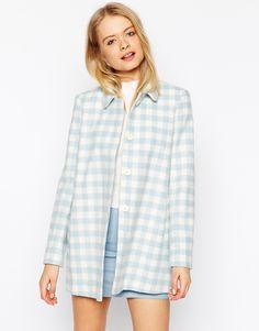 ASOS Dolly Coat in Summer Check