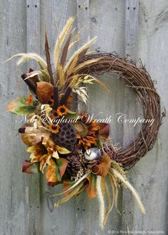 Autumn Woodland Partridge Wreath ~A New England Wreath Company Designer Original~