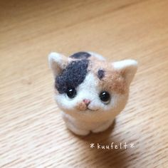 Wool Felt, Felted Wool, Needle Felted Cat, Artist Alley, Textiles, Kawaii Cat, Felt Cat, Sewing Toys, Plushies