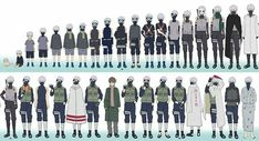 The evolution of Kakashi Hatake. I like my baby as a baby most.