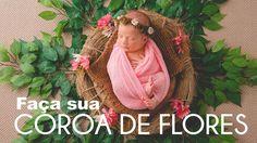 COROA DE FLORES PARA ENSAIO NEWBORN | FAÇA VOCÊ MESMO