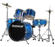Children's blue #drum set