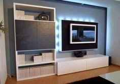 meuble télé design avec des lumières