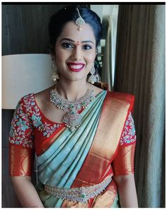 Wedding Saree Blouse Designs, Pattu Saree Blouse Designs, Half Saree Designs, Fancy Blouse Designs, Blouse Neck Designs, Pattu Sarees Wedding, Lehenga Designs, Blouse Patterns, Silk Sarees
