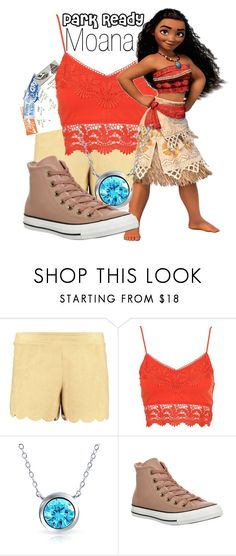 """Moana~ DisneyBound"" by basic-disney ❤ liked on Polyvore featuring Boohoo, Bling Jewelry and Converse"