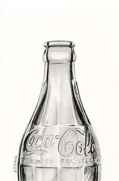 "Coca Cola contest, 2nd place. ""Vintage Coke Bottle"", drawing by artist Sarah Batalka"
