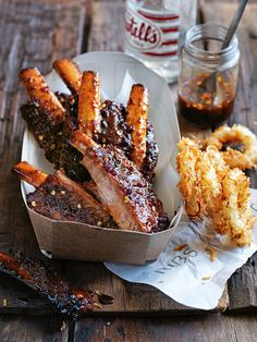 Sweet Pickled Chilli and Lime Ribs - Donna Hay Rib Recipes, Cooking Recipes, Donna Hay Recipes, Gula, Sweet Pickles, Pork Dishes, Food Truck, Love Food, Tapas