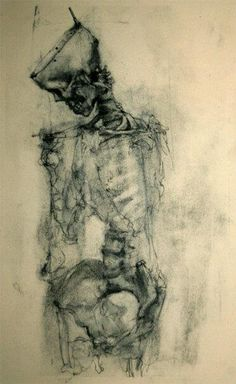 """Incredible drawing by a US artist on deviantart called David Smith (napoleoman). Title """"Charcoal and Bone""""."""