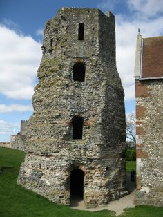 The Roman lighthouse near Dover Castle, Dover, England