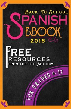 Free Tips and Resources for Grades 6-12 Spanish Teachers! Perfect for back to school!