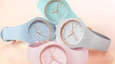 ice glam pastel watch By polkastore Ice Watch, Olivia Burton, Rockets For Kids, Women Accessories, Jewelry Accessories, Nail Art Pictures, Budget Fashion, Women's Fashion, Watch Faces
