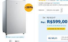 Mini-Geladeira Philco PH85 - 70 Litros << R$ 50915 >>