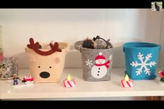One way to organize your stuff for Christmas, get cute holders like these to put your stuff in it❤️