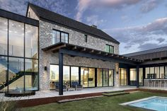 55 Awesome Home Exterior Design Ideas. You can fix your home exterior design even if you do not have much money. In this article I am going to talk about the ways to improve your home exterior design. Modern Farmhouse Exterior, Farmhouse Style, Farmhouse Ideas, Farmhouse Design, Farmhouse Decor, Casa Top, Modern Barn, Contemporary Farm House, Contemporary Windows