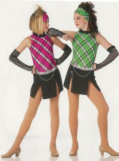 Clearance Plaid Jazz Tap Dance Costume Highland Fling Adult & Child Sizes #Cicci