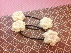 お花のヘアゴム♪秋冬バージョンの作り方 編み物 編み物・手芸・ソーイング ハンドメイド・手芸レシピならアトリエ