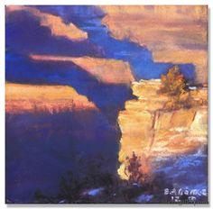 "Bruce A. Gómez | ""Little Grand Canyon I"" | Pastel, 6 x 6"""