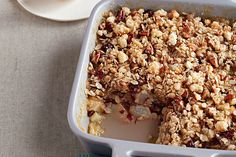 Quick Pear & Cranberry Crisp — This delicious dessert recipe is not just quick. In fact, it takes 20 minutes to prep for the microwave. Kraft Recipes, Just Desserts, Dessert Recipes, Dessert Ideas, Homeade Desserts, Jello Recipes, Fall Desserts, Cheesecake Recipes, Salad Recipes