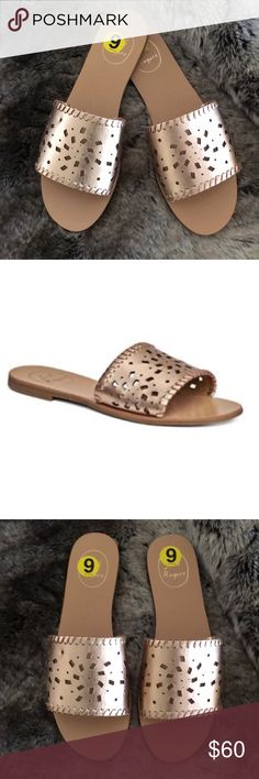 b6eeeea40 NWT Jack Rogers Rose Gold Sandals Slides Sz 9  118 New! Jack Rogers Rose  Gold