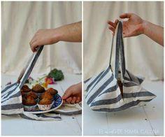 Convierte los paños de cocina en cómodas bolsas de repostería ༺✿ƬⱤღ http://www.pinterest.com/teretegui/✿༻