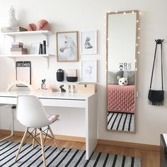 The ideal study room design is one that accommodates studying and looks good. Want to make such a room for yourself? Check out these study room ideas Built In Dressing Table, Dressing Table Organisation, Organization Ideas, Bedroom Organization, Dressing Table Chair White, Storage Ideas, Storage Design, Home Office Design, Home Office Decor