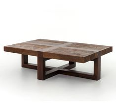 Bryan Reclaimed Wooden Coffee Table as seen at HGTV Fixer Upper: Country Farmhouse Goes from Scary to Sensational (http://www.zinhome.com/bryan-reclaimed-wooden-coffee-table/)
