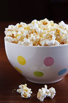 Add nutritional yeast to popcorn for a cheesy, nutrient-rich snack! Nutritional yeast is AMAZING! It's packed with B-vitamins, folic acid, selenium, zinc, and protein. All extremely important for moms-to-be! Plus, it's low in fat, gluten-free, and has no added sugars or preservatives.